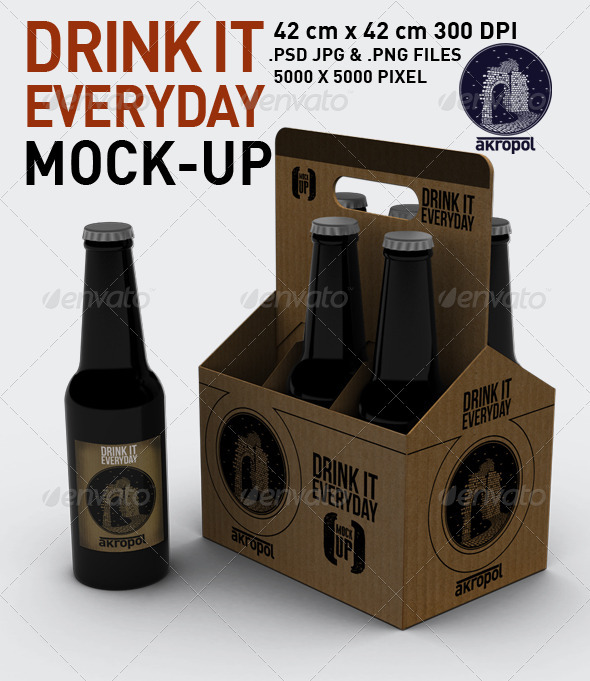 Drink it Mock Up - Food and Drink Packaging