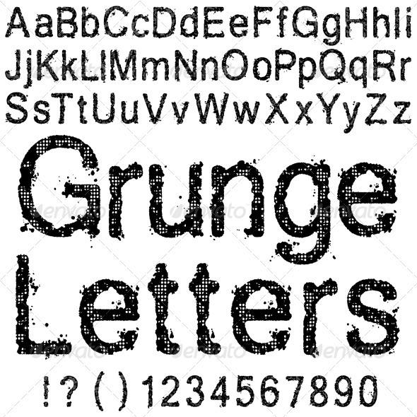Grunge Letters - Miscellaneous Vectors