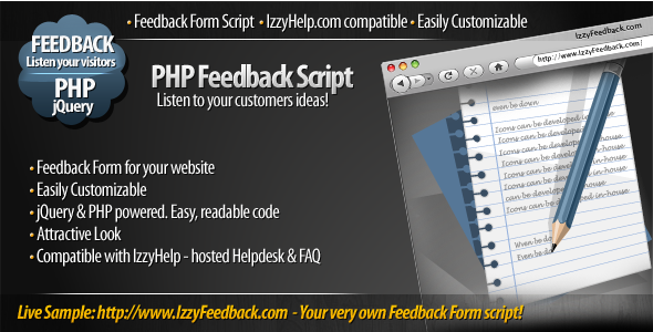 IzzyFeedback - customizable Feedback Form script