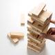 Closeup wood blocks stack game - PhotoDune Item for Sale