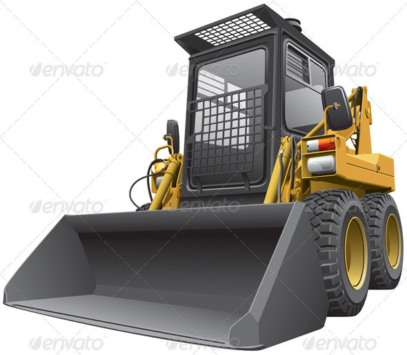 Light-brown Skid Steer Loader - Objects Vectors