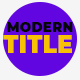 Modern Corporate Titles