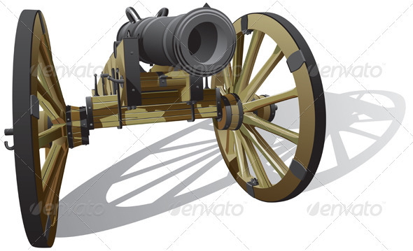 Ancient Field Gun - Retro Technology
