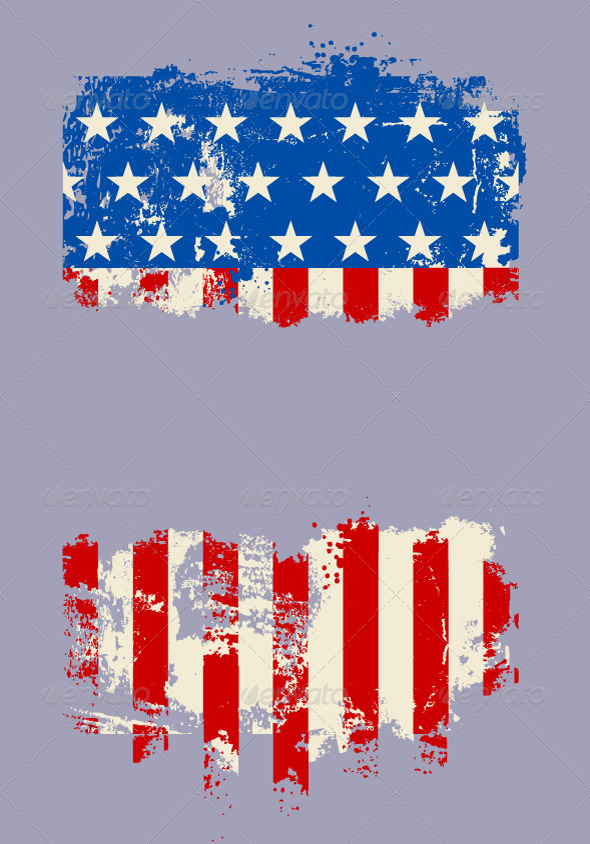Grunge USA national flag - Vectors