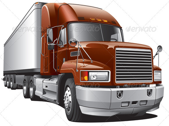 Large Delivery Truck - Objects Vectors