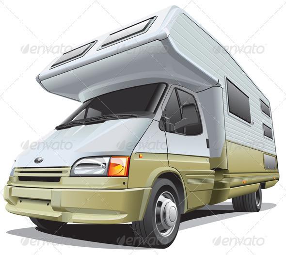 Compact Camper - Objects Vectors