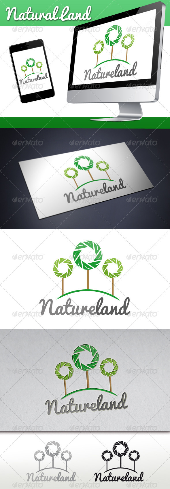 Natural Land Logo - Nature Logo Templates