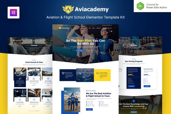 Aviacademy – Aviation & Flight School Elementor Template Kit