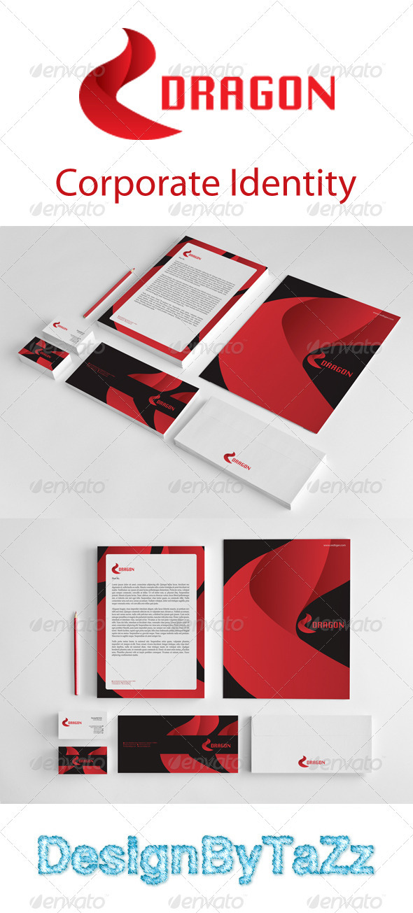 Dragon Corporate Identity Package - Stationery Print Templates