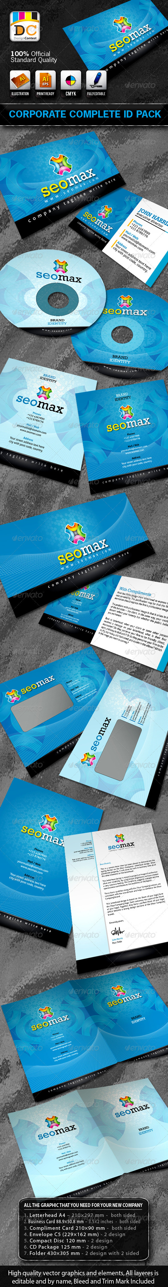 Seo Max Corporate ID Pack + Logo - Stationery Print Templates
