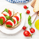 Caprese salad with mozzarella, basil and garden tomatoes - PhotoDune Item for Sale