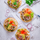 Greek gyros meat with pita flat bread, vegetables and onions and Tzatziki dip - PhotoDune Item for Sale