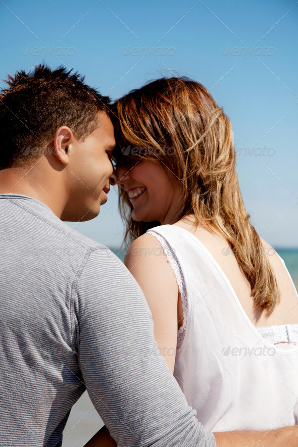 Lovers Looking at Each Other's Eyes - Stock Photo - Images