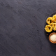 Pasta food  ingredients on table background. Raw pasta fettuccine - PhotoDune Item for Sale