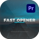 Fast Opener For Premiere Pro - VideoHive Item for Sale