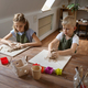 Children work with clay, kids in workshop - PhotoDune Item for Sale