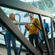 Team of happy managers on stairs in IT office - PhotoDune Item for Sale