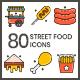 75 Street Food Icons   Aesthetics Series