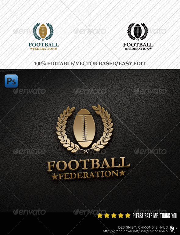 Football Federation Logo Template - Abstract Logo Templates
