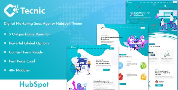 Tecnic – Digital Marketing Hubspot Theme