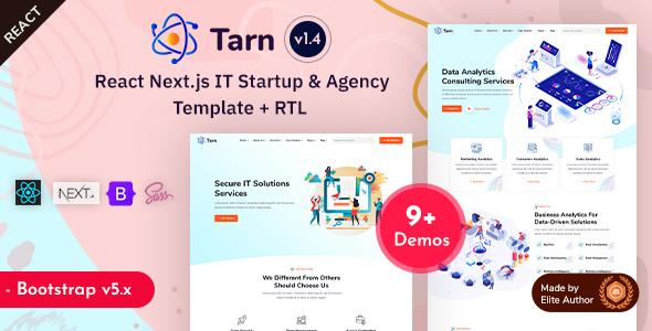 React Next.js IT Startup & Agency Template - Tarn