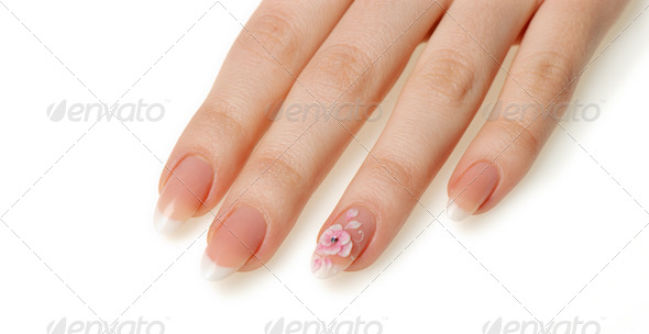 Manicure isolated on white - Stock Photo - Images