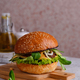 Cheeseburger with beef cutlet and vegetables - PhotoDune Item for Sale