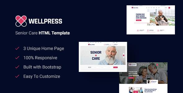 Excellent WellPress - Senior Care HTML5 Template