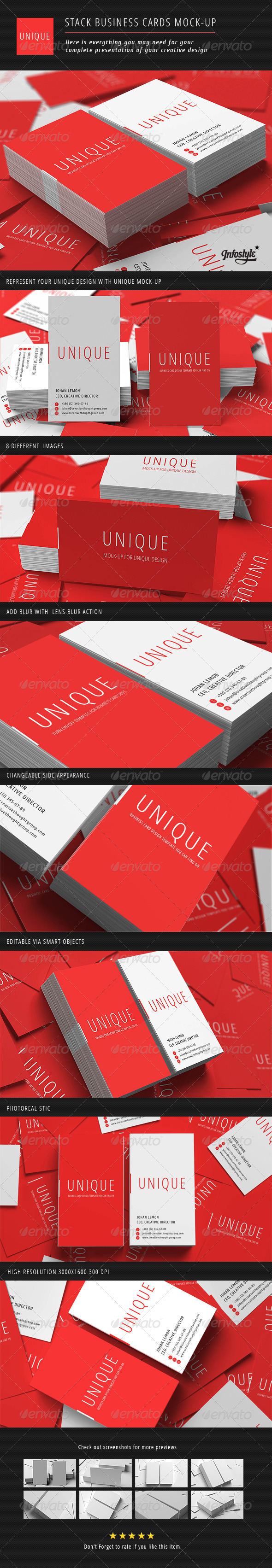 Stack business cards mock up by wpway graphicriver stack business cards mock up business cards print reheart Images