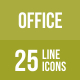 Office Line Black Icon Set