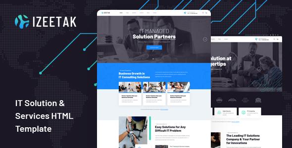 Extraordinary Izeetak - IT Solutions & Services HTML Template