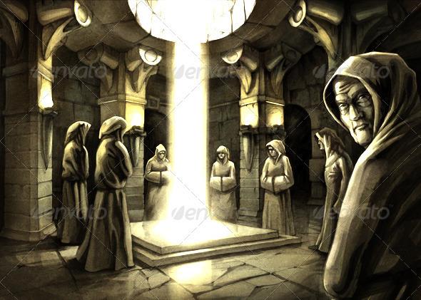 Mystic Ritual  - People Illustrations