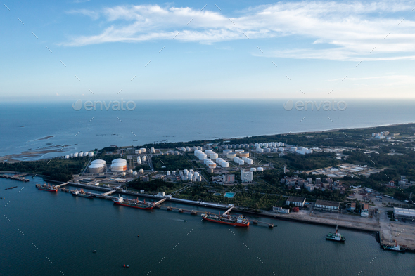 Oil depot - Stock Photo - Images