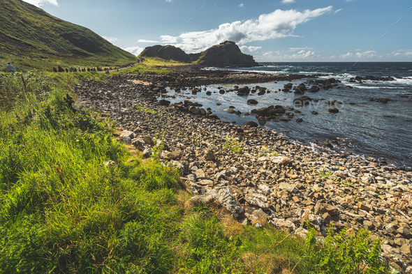 Close-up shoreline with the boulders. Ireland - Stock Photo - Images