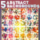 5 Abstract Vector Circle Backgrounds - GraphicRiver Item for Sale