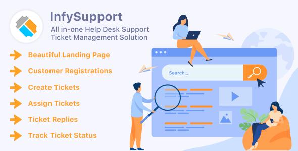InfySupport - All in-one Laravel Help Desk Support Management Solution