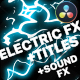 Cartoon Electric Elements and Titles | DaVinci Resolve - VideoHive Item for Sale