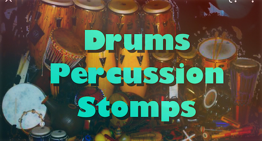Drums, Percussion, Stomps