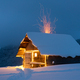 Fantastic landscape with glowing snowy house - PhotoDune Item for Sale