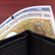 Old Central African States money in the black wallet - PhotoDune Item for Sale