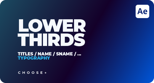 Lower Thirds for After Effects