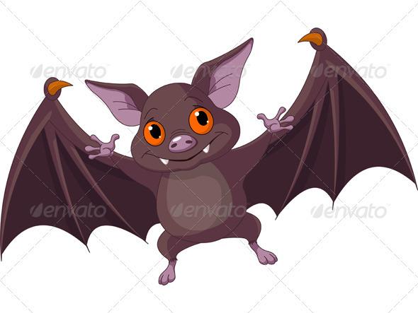 Halloween  bat  flying - Animals Characters