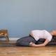 Pregnant woman practicing yoga in suptha virasana exercise - PhotoDune Item for Sale