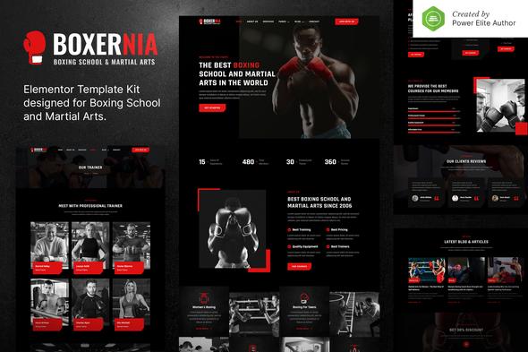 Boxernia – Boxing School & Martial Arts Elementor Template Kit