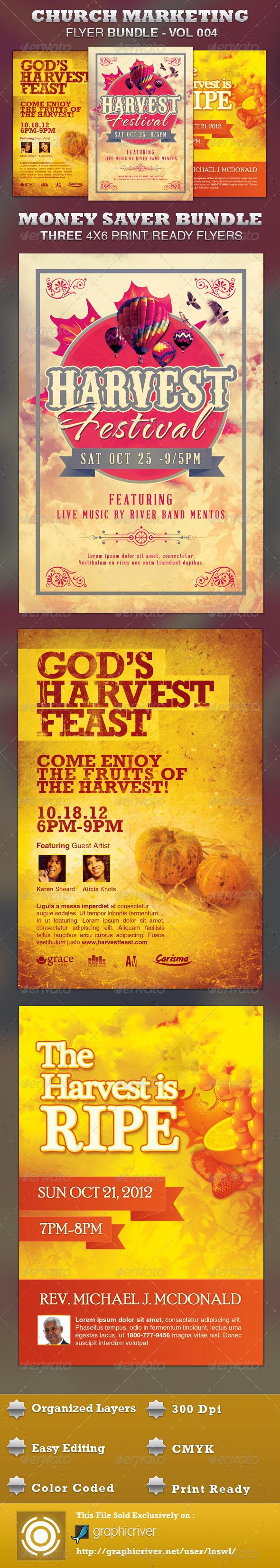 Church Marketing Flyer Bundle Vol-004 - Church Flyers