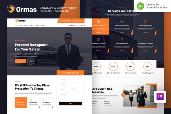 Ormas – Bodyguard & Security Agency Elementor Template Kit