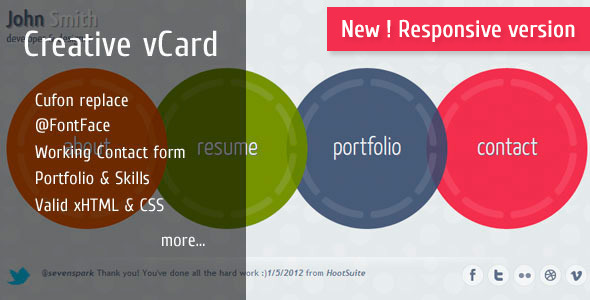 Free Download Circlus - Personal Portfolio&vCard HTML5&CSS3 Theme Nulled Latest Version