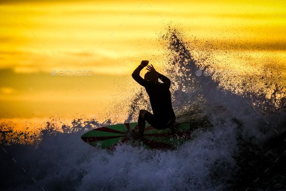 Bells Beach Surfers in Australia - Stock Photo - Images