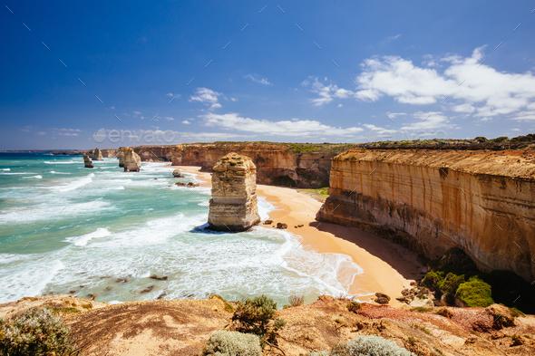 The 12 Apostles in Victoria Australia - Stock Photo - Images