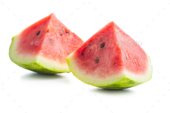 Red sliced watermelon. Pieces of red melon. - Stock Photo - Images